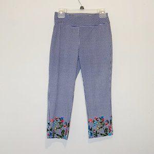 Jules & Leopold Floral Plaid Gingham Capri Pants S